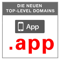 .APP - DOT-APP.- DIE NEUE GENERISCHE TLD gTLDs TOP LEVEL DOMAINS INTERNETADRESSENENDUNG FÜR .APPS
